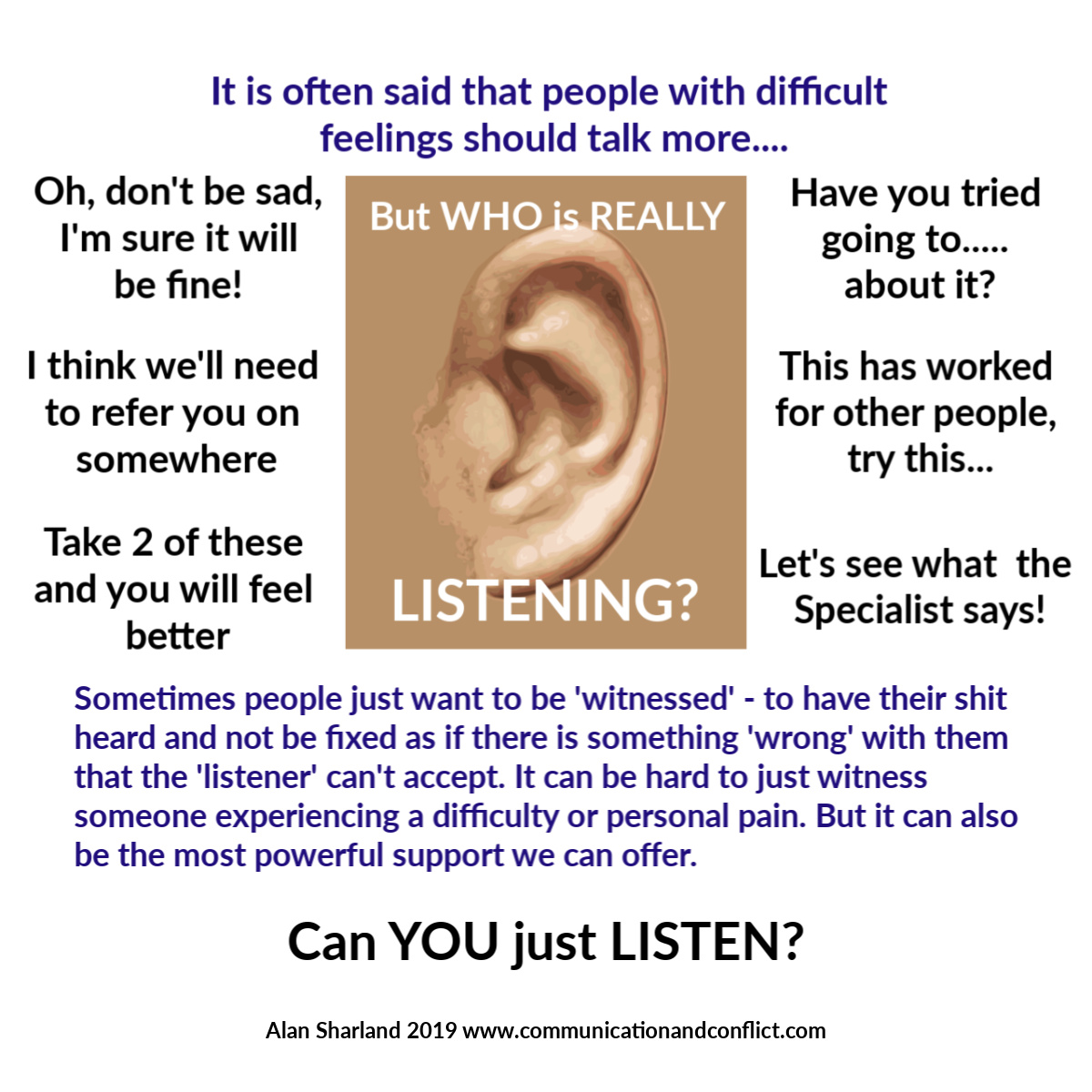 Can You Just Listen Without Fixing?