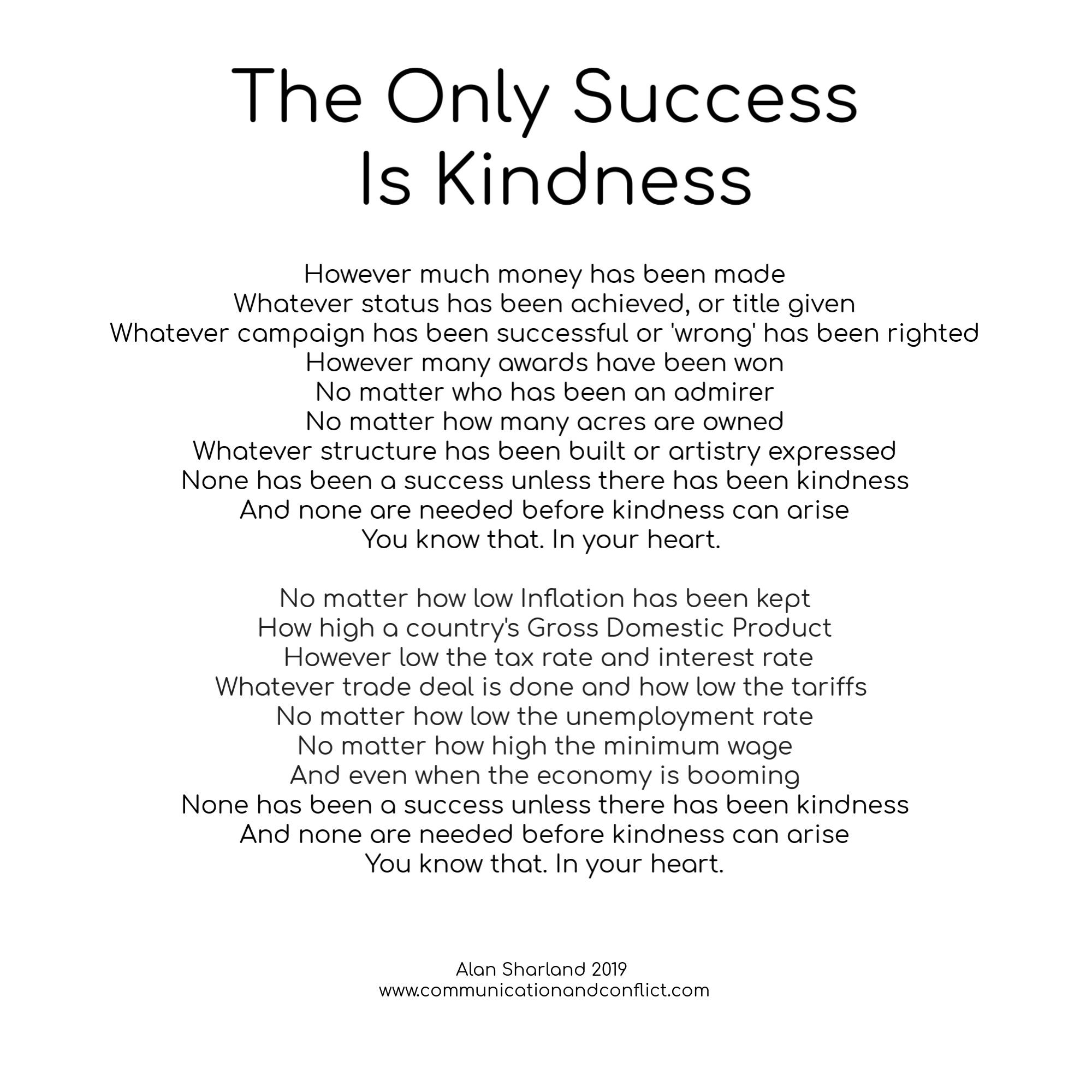 Kindness - communicationandconflict.com