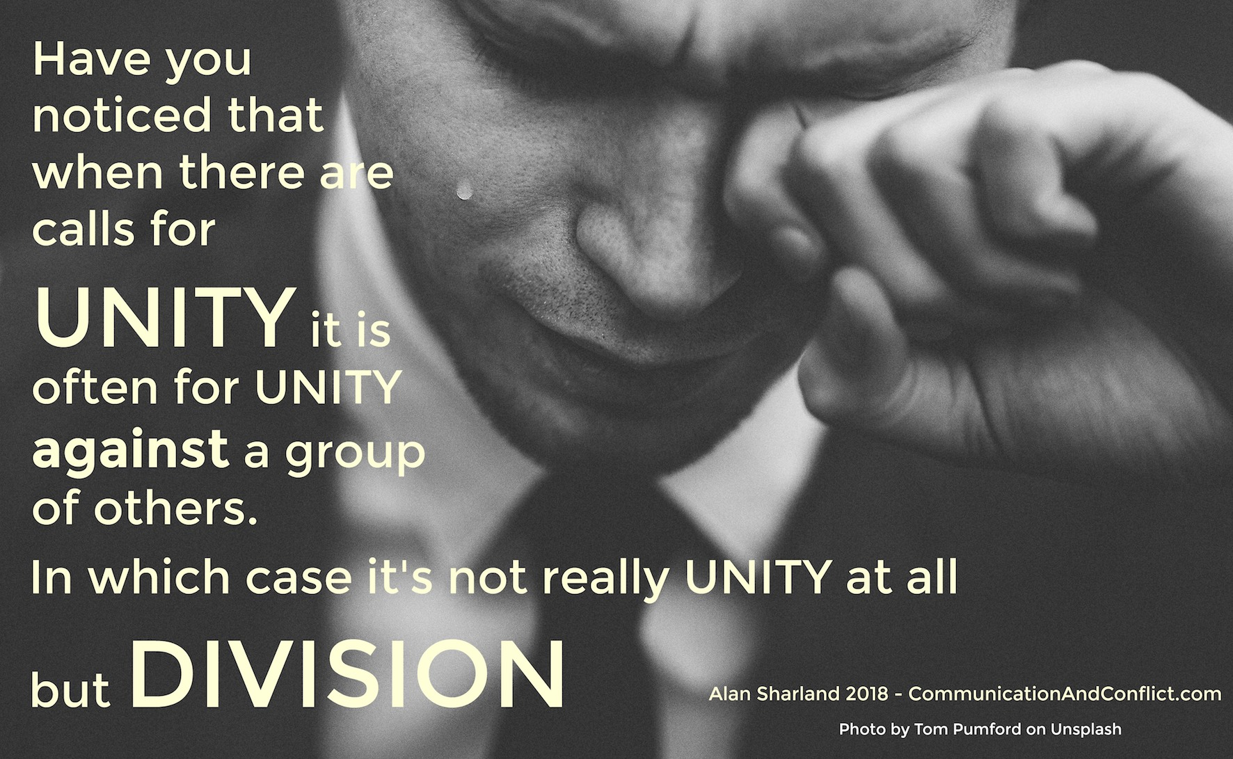 Unity or Division?