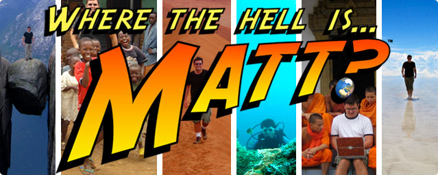 Click here to go to the site 'Where the Hell is Matt?'